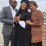 Billionaire's daughter, Temi Otedola graduates from UK university; Mr Eazi turns up (Photos)