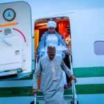 Buhari arrives in New York ahead of UNGA73 (PHOTOS)