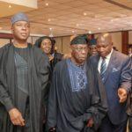 Saraki meets Obasanjo, Abulsalami Abubakar [PHOTOS]