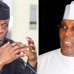 Atiku vs Osinbajo: APC breaks silence on war of words over restructuring