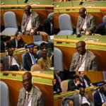 Edo state governor, Godwin Obaseki, caught on camera, sleeping at the UN general Assembly (photos)