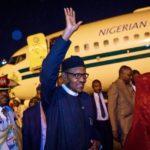 Pres Buhari arrives Nigeria from China