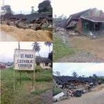 BREAKING News: Many Trapped As Catholic Church Collapses On Worshipers In Delta