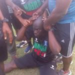 Photos: Nigerian Coach collapses after being punched by player during match