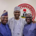 Osun Guber: Saraki completes first PDP assignment, unites Ogunbiyi, Adeleke ahead of elections [PHOTOS]