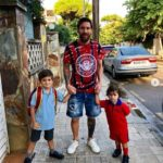 Lionel Messi Spotted On The Street Taking His Sons To School (Photos)