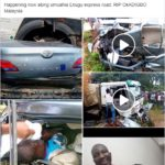 Dangote Truck Crushes Young Man To Death Along Umuahia-Enugu Expressway (Graphic Photos)
