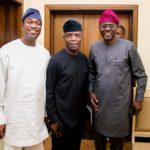 VP Osinbajo Meets Ambode's Rival, Sanwo-Olu In Lagos