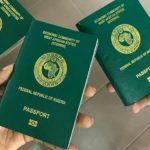 Nigerian passport with 10-year validity effective December