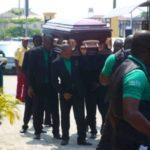 Nigerian Celebrities Shut down Lekki For Tosyn Bucknor's Burial (PHOTOS)
