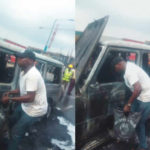 Photos Of Fayose's G-Wagon Burnt To The Ground In Lagos Accident