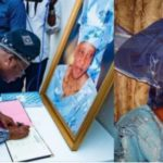 Governor Ajimobi pays condolence visit to the family of Iyalode of Ibadan who died two weeks to her 94th birthday (PHOTOS)