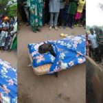 Man buried with bed instead of a coffin in Benue State (PHOTOS)