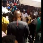 Ex-Governor, Fayose Mobbed By Supporters As He Returns To Ekiti State (Video)