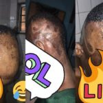 See How Lagos Mom Shaved Off Her Son's 'Cultist Hair Style' With Blade