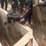 Man stopped from entering his friend's grave in Bayelsa (Photos)