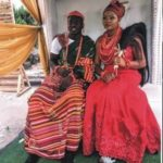 Super Eagles midfielder, Etebo Oghenekaro weds the mother of his child in Warri (Photos)