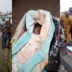 Newborn baby abandoned by the roadside in Port-Harcourt. (PHOTOS)