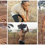 Nigerian wife material begins hunt for husband on Facebook as she shares photos of herself in the farm