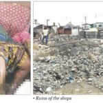 Man refueling working generator sets shops attached to palace ablaze in Lagos