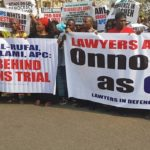 Lawyers Protest Against Chief Justice Of Nigeria, Onnoghen's Suspension