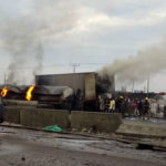 3 Dead, Several Cars Burnt As Tanker Falls And Goes Up In Flames At Ojo Barracks (Graphic Photos)
