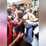 Pandemonium As Angry Mob Attacks White Garment Church Pastor. (Photos & Video)
