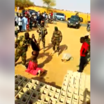 Boko Haram Terrorist Who Disguised As Lady Stripped After Being Nabbed. (Photos & Video)