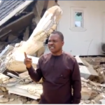 Politician Kicks As His Mansion Is Demolished Few Weeks To Election. (Photos & Video)