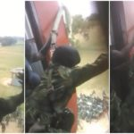 Drama As Scared Nigerian Army Cadet Refuses To Jump During Military Training (Photos & Video)