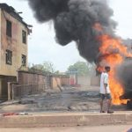Property worth millions of naira destroyed as fire razes building in Onitsha