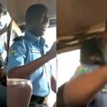 Nigerian police officer spotted preaching inside public bus (Photos & Video)