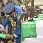 Photos from the funeral of the 5 Nigeria Air Force personnel killed in Borno helicopter crash