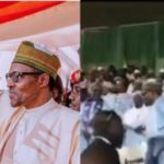 President Buhari Nearly Falls Again At Kaduna APC Rally (Photos & Video)
