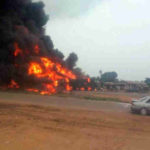 Truck Goes Up In Flames On Ogudu Road Along Oworonshoki In Lagos