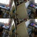 Housemaid caught on CCTV defecating in the Kitchen (Video)