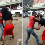 A Man and a Lady spotted fighting outside Shoprite Mall (PHOTOS)