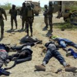 See Corpses Of Boko Haram Fighters Killed By Nigerian Forces In Lake Chad (Photos)