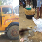 Tragedy In Oshodi As Tipper Crush Nursing Mother And Child To Death While Hustling (GRAPHIC PHOTOS)