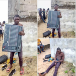 Young man arrested after stealing from a church in Bayelsa (photos)