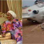 Gov Bello's Wife Involved in Accident Where Osinbajo's Chopper Crashed
