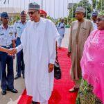 2019Elecetions! President Buhari Arrives Katsina With His Entourage Ahead Of Polls (Photos)