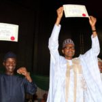 Elections 2019: Buhari, Osinbajo Receive Certificates Of Return From INEC