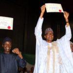Elections 2019: Buhari, Osinbajo Receive Certificates Of Return From INEC