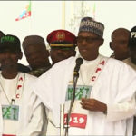 Tinubu, Oshiomhole missing as Buhari takes presidential campaign to Abuja