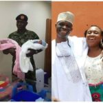 Nigerian Army Colonel Welcomes A Set Of Twins After 12 Years Of Marriage (Photos)