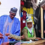 Nigeria Election: What Buhari Said After Casting Votes With His Wife, Aisha In Daura, Kastina State (photos & video)