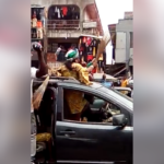 Woman And Her Team Stoned While Campaigning For APC In Benin, Edo (Photos & Video)
