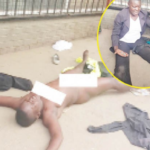 Woman Strips Naked In Bus Stop After Losing Over N60K To 'Crooks