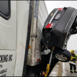 See The Freak Accident A Driver Came Out From Alive (Photos)